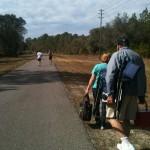 At the race walking (en la carrera caminando)