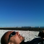 Key West Mark at the beach